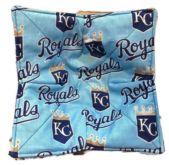 Bowl cozy, microwavable, KC Royals, cozie, hot pad, Quilted, reversible, pot holder, cozy or trivet.
