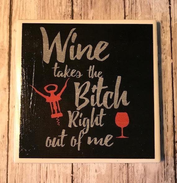Wine Coasters/ Housewarming Gift/Wine Lover/Hostess/ Party Favor/Handmade/Coffee and Tea Coasters/Art/Tile Coasters