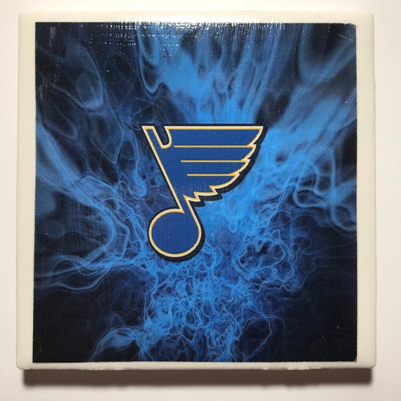 St. Louis Blues Coaster/ Art/ 2019 Hockey Sports Fan/ Gloria/ Let's Go Blues/ Coaster Tile Set/ Blue Note Fan/ NHL