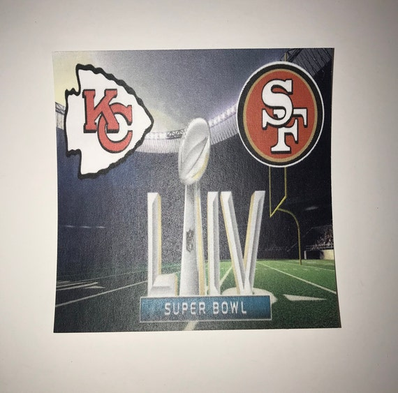 Super Bowl LIV/ KC Chiefs/ San Francisco 49 er's/ Ceramic Coaster/ Beer Mat/ Wine Gifts/ Bar Accessories