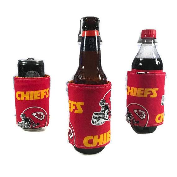 Insulated bottle cozy, Kansas City Chiefs, KC chiefs, cozie,  koozie, bottle huggers