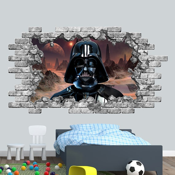 3D Effect Window STAR WARS Darth Vader WALL STICKERS decorative sticker 63