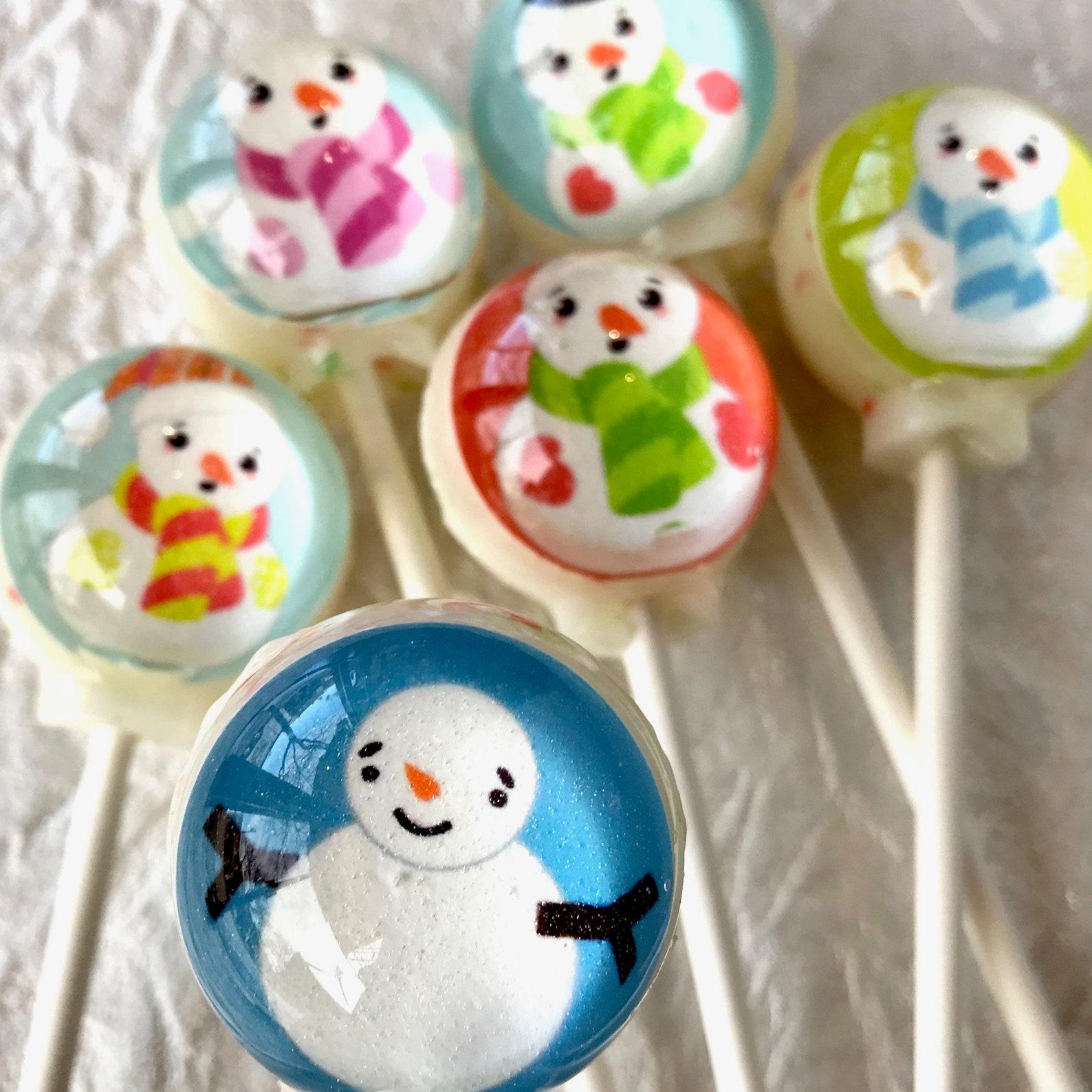 Snowman Lollipops