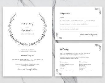 Printable Wedding Invitation Etsy