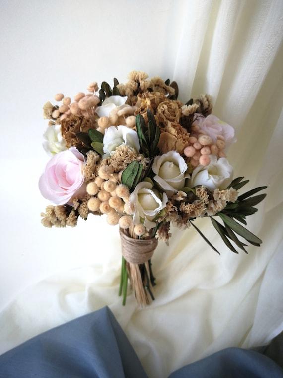 Dried Bouquet Wedding Dried Flower Bouquet Mini Flower Etsy