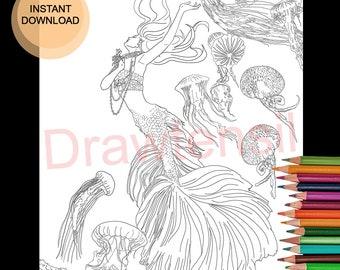 Ocean Mandalas Adult Coloring Pages | Woo! Jr. Kids Activities | 270x340