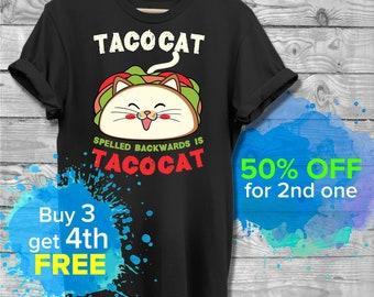 60ca688e3e Funny Taco Shirt Cinco De Mayo T Shirt Taco Cat T-Shirt Tacocat Tshirt  Mexican Food Joke Gifts For Cat Lovers Mens Ladies Tee Unisex T-Shirt