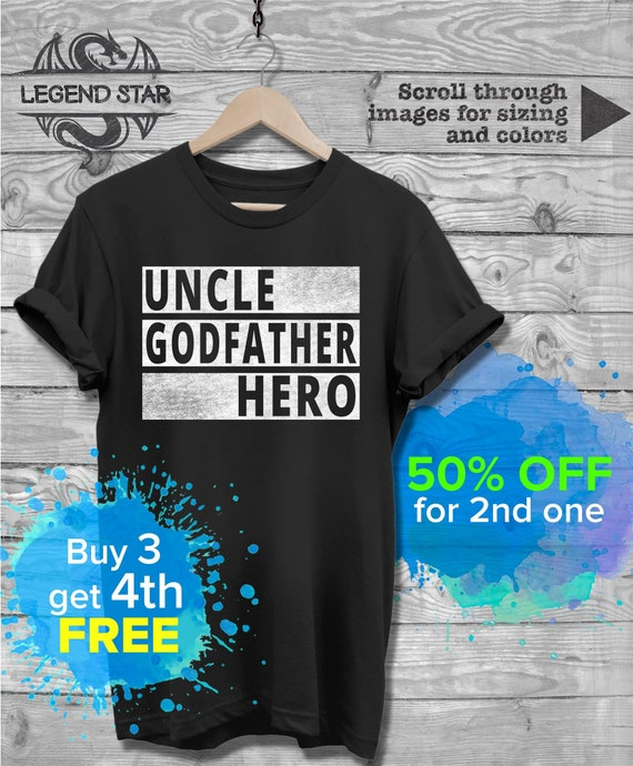 Uncle T-Shirt Uncle Godfather Hero Shirt Gift For Godfather Uncle Shirt