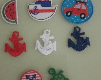 Ironing picture patch maritime anchor ship boat steamer melon turtle application