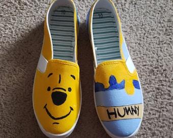 Winnie the Pooh Hand Painted Shoes aa984df0e