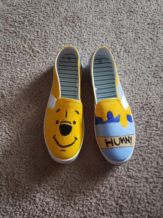 Winnie the Pooh Hand Painted Shoes   Etsy