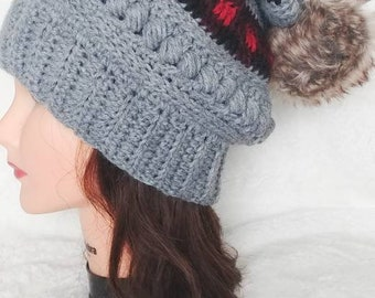5f8334b8806 crochet slouchy hat