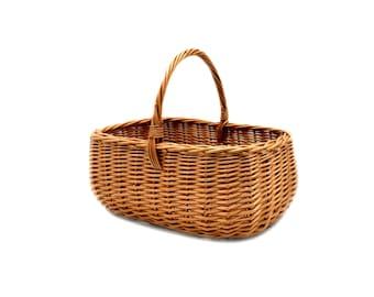MyBer® basket from willow wicker basket shopping basket picnic basket brown.  Very decorative K1-014