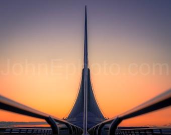 Milwaukee Art Museum - Calatrava - Burke Brise Soleil - Milwaukee Photograph - Colorful Sunrise Photo Print