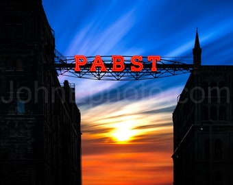 Pabst Brewery Sign - Beer - Milwaukee, Wisconsin - Photograph Print - 8x10 Print