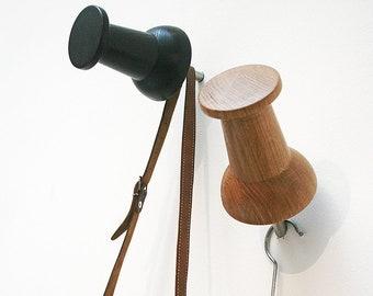 XXL Wood Pinpin / Wardrobe / Wall Hooks / Oak Clear / Set of 3