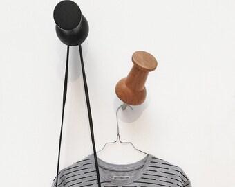 XXL Wood Pinpin / Wardrobe / Wall Hooks / Oak Clear
