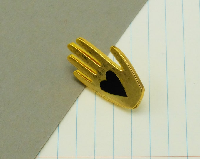 Heart + Hand Pin