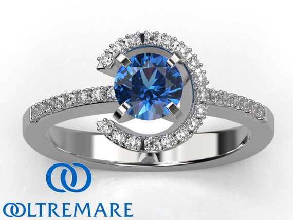 Blue Sapphire Engagement Ring September Birthstone Ring 5th Etsy