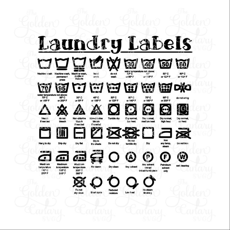 Laundry Label svg dfx png pdf jpeg, college student, new home owner,  housewarming party, new home sign, Laundry cheat sheet, laundry symbols