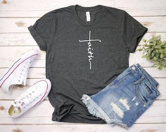 0ca1801f895b Women s FAITH Inspirational Faith Religious Christian Tee T-Shirt Graphic  Tee Plus Size 3X 3XL 4X 4XL