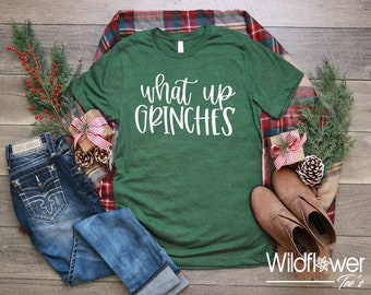 0e4af5b3327 Women s WHAT UP GRINCHES Limited Time Cute Funny Winter Holiday Christmas  Tee T-Shirt Graphic Tee Plus Size 3XL 4XL Avail