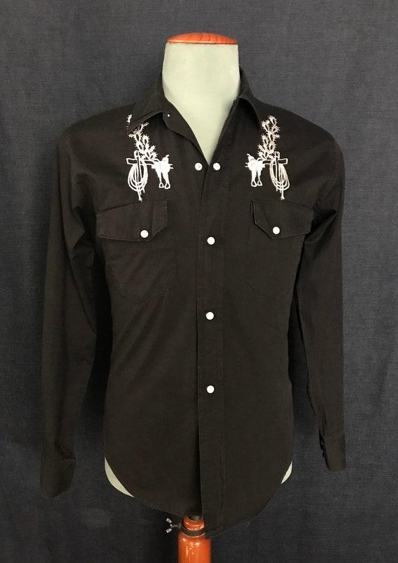 Vintage 60's embroidered sanforized 100% cotton we