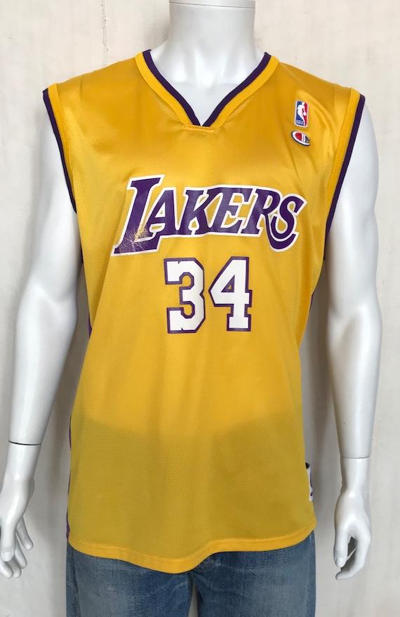 Vintage NBA Champion Jersey LA Lakers 34 Shaquille