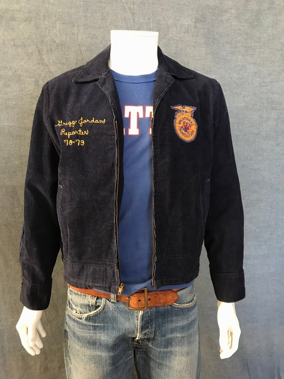 vintage 78/ 79 FFA Georgia talon zipper jacket siz