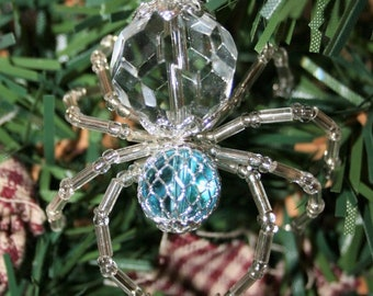 makes 3 legend of the christmas spider beading ornament kit blue diy how to glass beads stocking filler craft supplies tools kit - The Christmas Spider