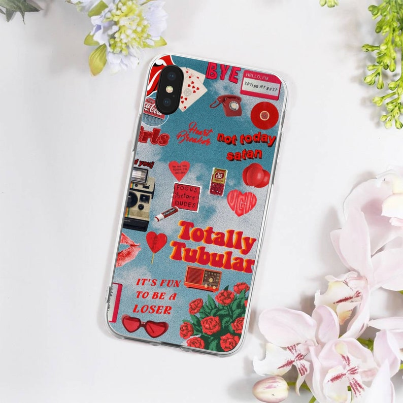 hot sale online f0f2f a8869 Aesthetic iPhone Case - iPhone X Case - iPhone Stickers - Tumblr iPhone  Case - Rad iPhone Case - Not Today Satan - iPhone 6/7/8/X/S Case