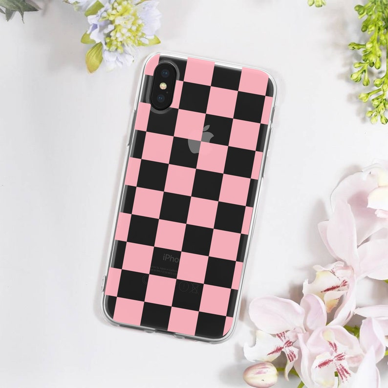 the latest ae42d 9002b Pink Checkers iPhone Case - Pink Checkered iPhone Case - Checkers iPhone X  Case - Checkered Samsung Galaxy Case - Pink Galaxy S9 Case
