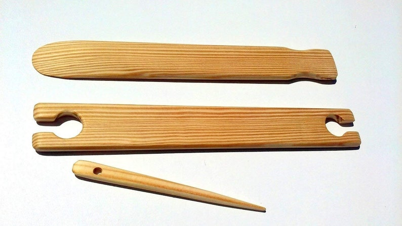 4 Pack 22 inch x 1.5 inch wide weaving stick shuttles