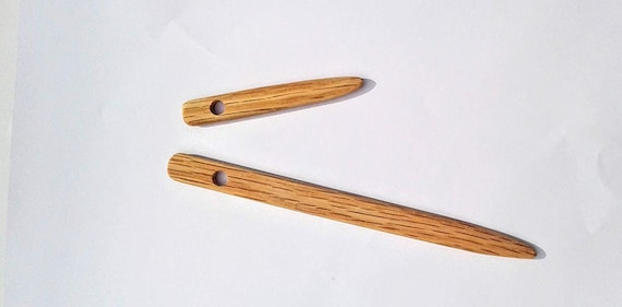Made from oak wood 4 pack Nalbinding needles sizes 3 and 6 inches