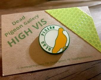 Dead Pigeon Gallery Pin Badge