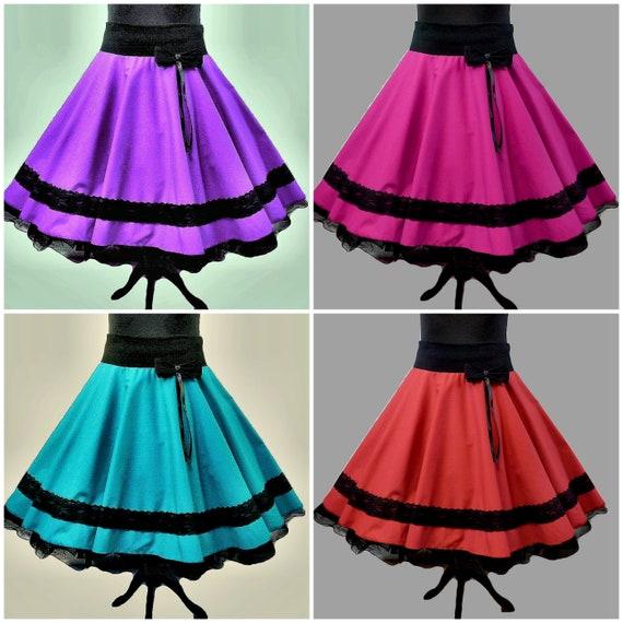 viel rabatt genießen am besten wählen offizieller Laden Tellerrock dance skirt Petticoatrock Square Dance Line Dance costume skirt