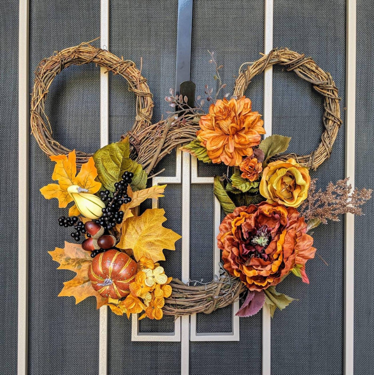 Mickey Ears Fall Floral Wreaths