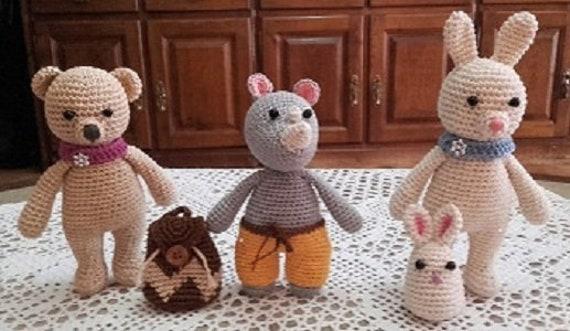 3 Bff / 3 best friends / amigurumi animals / crochet animals / stuffed  animals