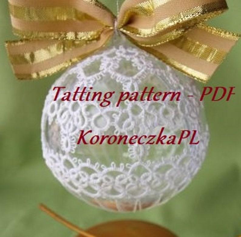 PDF Tatting pattern  Christmas ball Beza image 0
