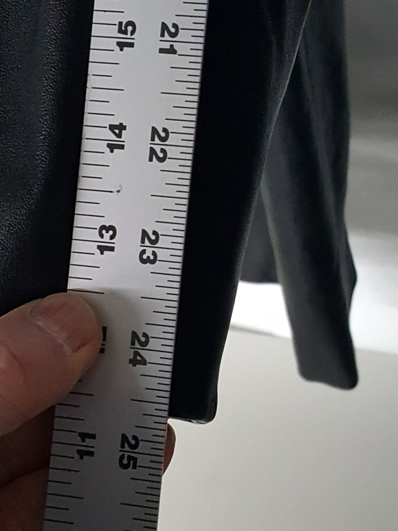 Black Leather coat Men/'s full length