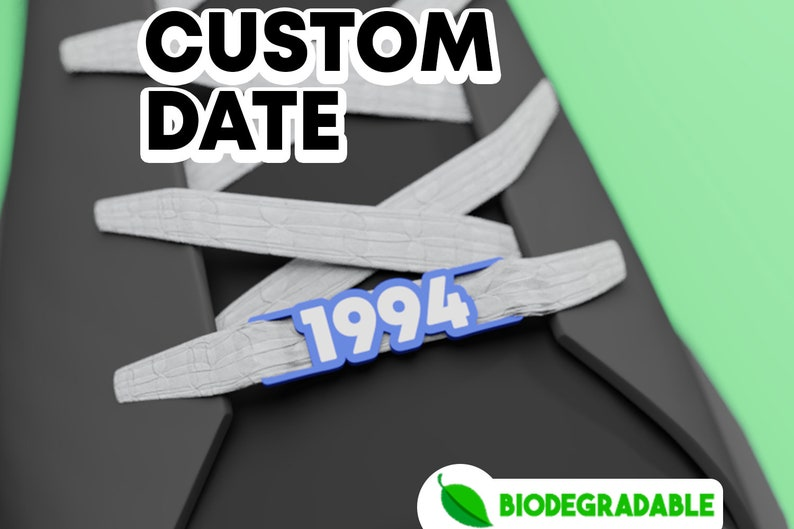 CUSTOM DATE 1 pair  Lace Locks  Custom your shoes   Lace image 0