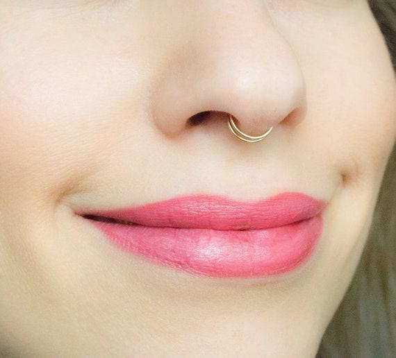 Sale Fake Septum Fake Double Septum Fake Nose Ring Double Etsy