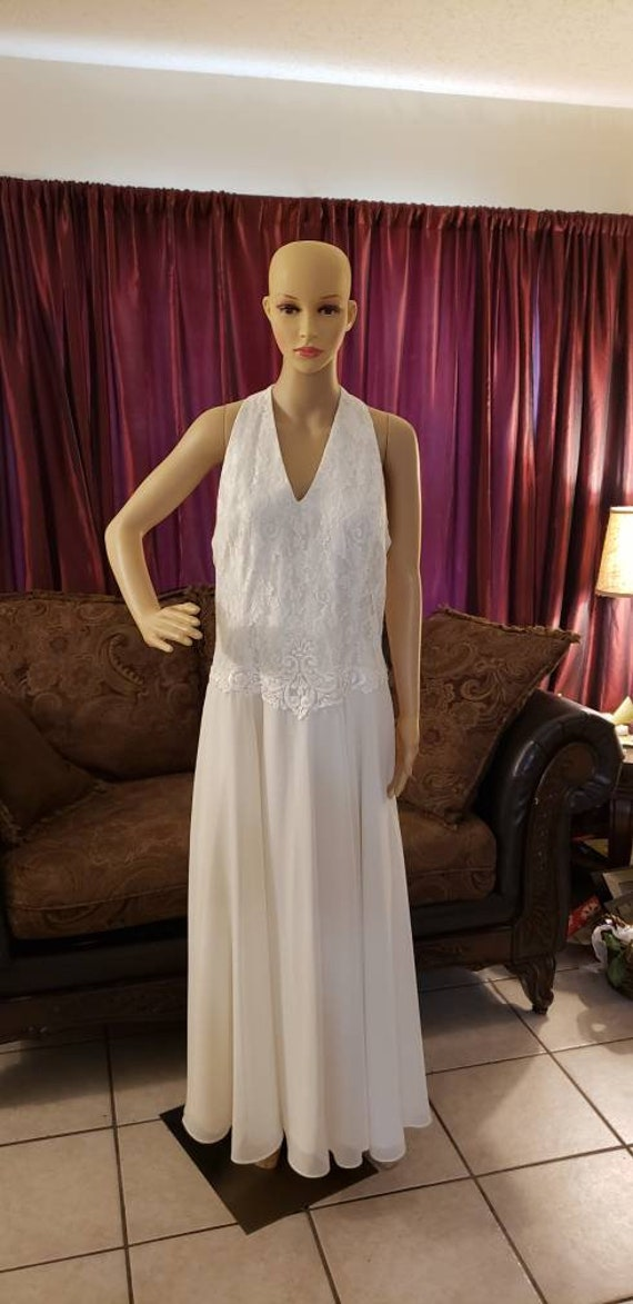 Scott McClintock Ivory Wedding Prom  Evening Gown