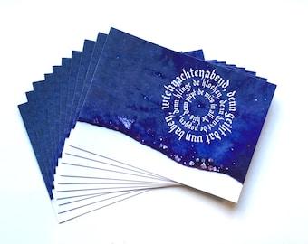 10 Christmas folding cards op Platt