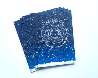 "10 Christmas folding cards ""Snowflakes"""