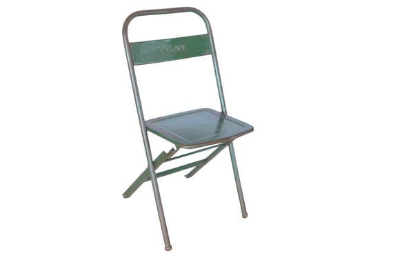 Fantastic Vintage Folding Chair Metal Green Gmtry Best Dining Table And Chair Ideas Images Gmtryco