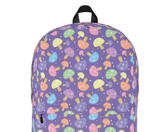 7b3d8a4eb2 Cute Kawaii Mushroom Pattern Backpack
