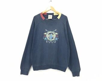 a3f29d444d5f 70s 80s Vintage HUGO BOSS Golf Club Embroidery Big Logo CrewNeck Sweatshirt  Jumper Made In Western Germany   Large Size