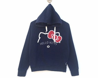 3ab029955 HELLO KITTY Embroidery Spell Out Logo Hoodie Sweatshirt Jumper Cartoon  Character / Cartoon Fashion / Medium Size / Women Size