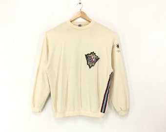 ccf68f861b9823 Vintage 90s Gianfranco Ferre Studio 0001 By Ferre Designer Embroidery  Patches Logo SpellOut CrewNeck Sweatshirt PullOver Jumper   XL Size